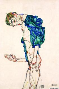 5 Egon Schiele (1890-1918) Preacher Nude Self-Portrait with Blue-Green Shirt), 1913.jpg