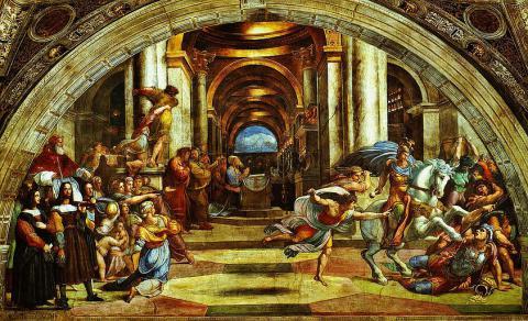 1_vyhnanie_heliodora_z_chramu_druhy_zlava_raffael_freska_1511_12_vatikanske_muzea.jpg